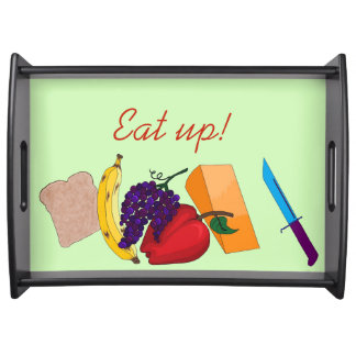 Eat up! serving tray