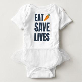 Eat Vegan - Save Lives Baby Bodysuit
