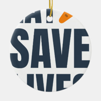Eat Vegan - Save Lives Ceramic Ornament