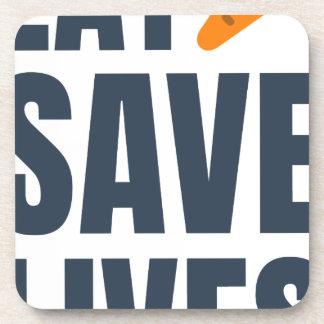 Eat Vegan - Save Lives Coaster