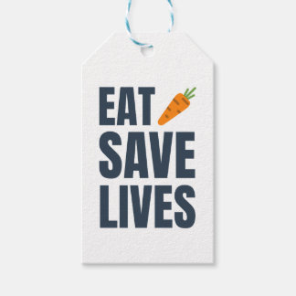 Eat Vegan - Save Lives Gift Tags