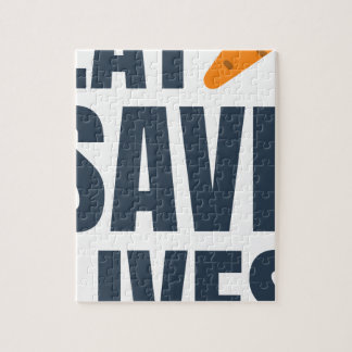 Eat Vegan - Save Lives Jigsaw Puzzle