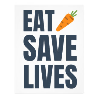 Eat Vegan - Save Lives Letterhead