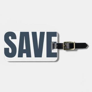 Eat Vegan - Save Lives Luggage Tag