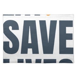 Eat Vegan - Save Lives Placemat