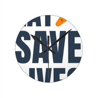 Eat Vegan - Save Lives Round Clock