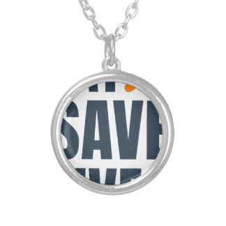 Eat Vegan - Save Lives Silver Plated Necklace