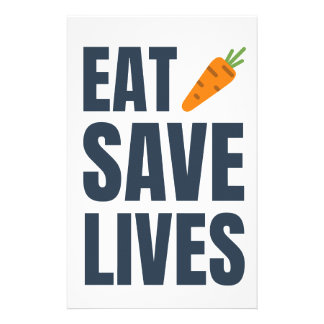 Eat Vegan - Save Lives Stationery