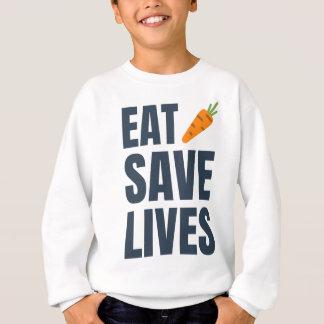 Eat Vegan - Save Lives Sweatshirt