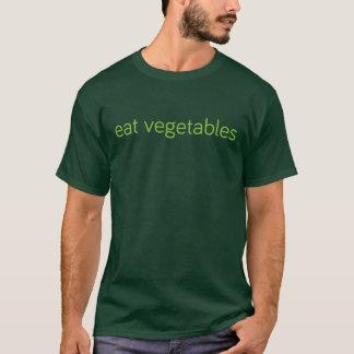 """eat vegetables"" t-shirt"