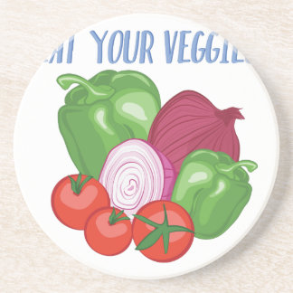 Eat Veggies Drink Coaster