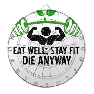 eat well graphic design dartboards