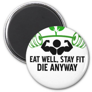 eat well graphic design magnet