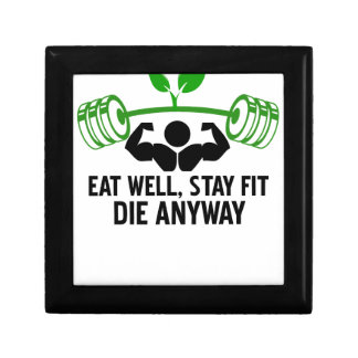 eat well, stay fit die anyway, lifting fitness gift box