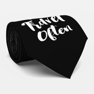 Eat Well Travel Often |  Words To Live By Tie