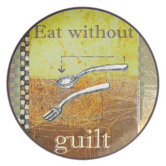 Eat without guilt - Melamine Plate