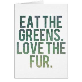 Eat Yo Greens! Greeting Card