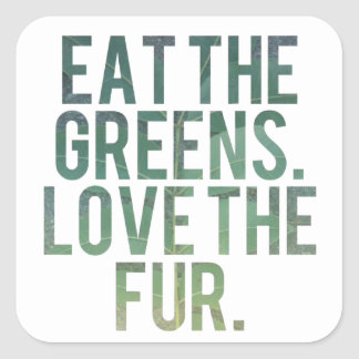 Eat Yo Greens! Square Sticker