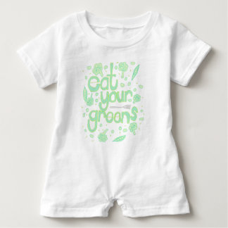 eat your greens baby romper