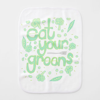 eat your greens burp cloth