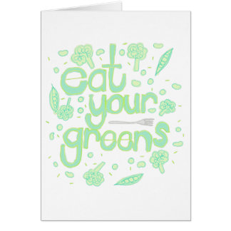 eat your greens card