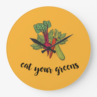 eat your greens clock