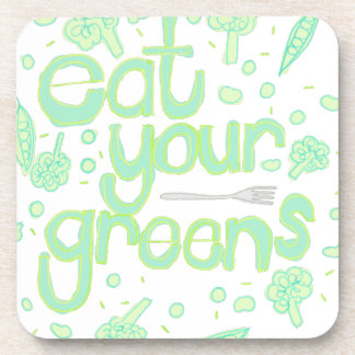eat your greens coaster