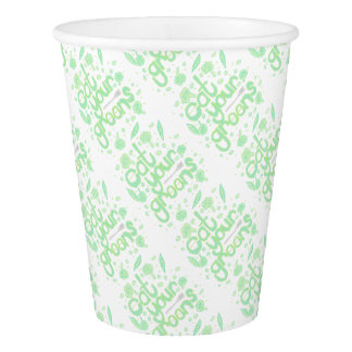 eat your greens paper cup
