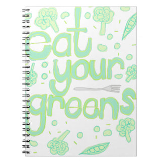 eat your greens spiral notebook