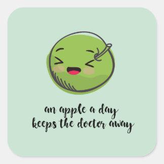 eat your greens sticher square sticker