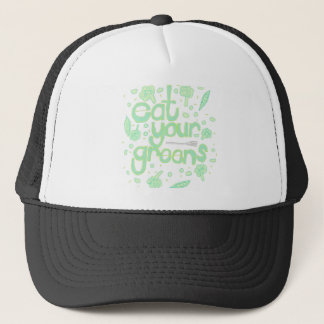 eat your greens trucker hat