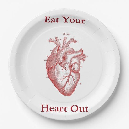 Eat Your Heart Out paper plate 9 Inch Paper Plate