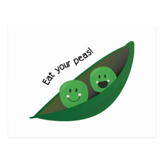 Eat Your Peas Postcard