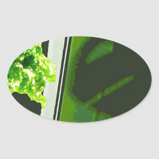 Eat your vegetables oval sticker