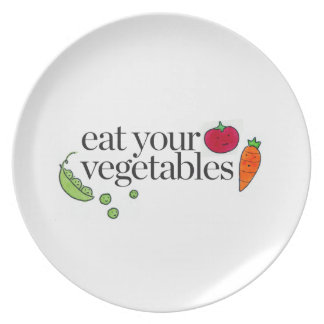 Eat Your Vegetables Party Plate