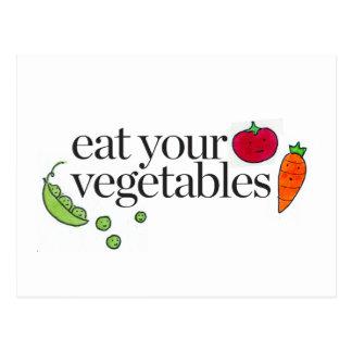 Eat Your Vegetables Postcard
