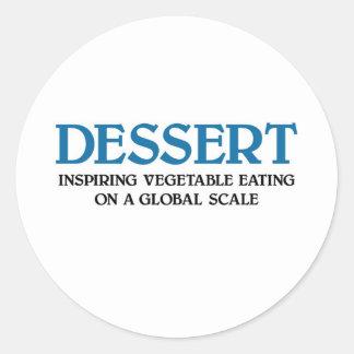 Eat Your Vegetables Round Sticker