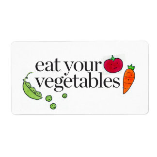Eat Your Vegetables Shipping Label