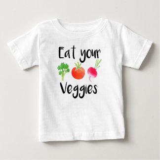 """Eat your veggies"" baby shirt"