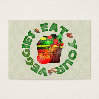 Eat Your Veggies Business Card