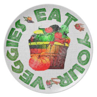 Eat Your Veggies Dinner Plate