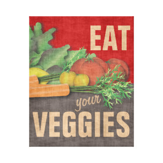 Eat Your Veggies Kitchen Wall Decor Art