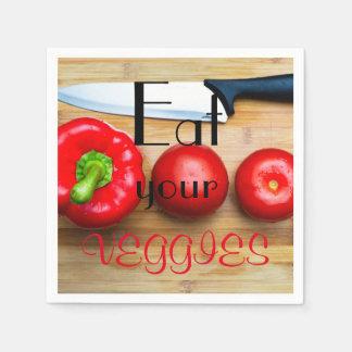 Eat your veggies paper napkins