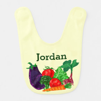 Eat Your Veggies Personalized Baby Bib