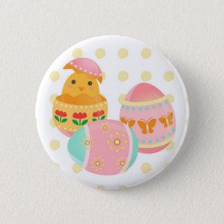 Eater Egg Chick Design Botton 2 Inch Round Button