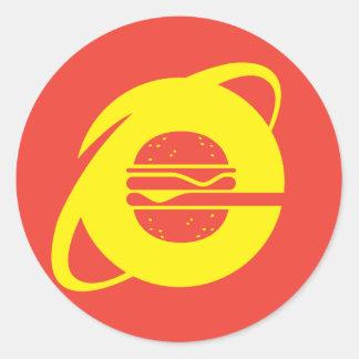 Eaternet explorer round sticker