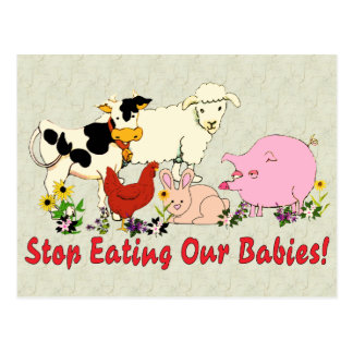 Eating Animal Babies Postcards