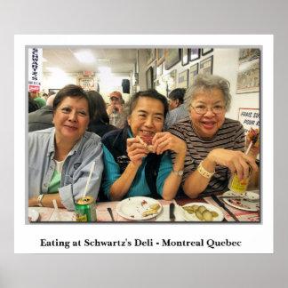 Eating At Schwartz's Deli - Montreal Quebec  Poster
