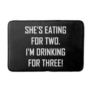 Eating For Two Drinking For Three Bath Mat