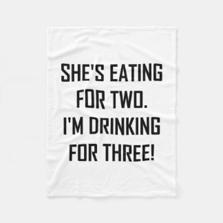 Eating For Two Drinking For Three Fleece Blanket